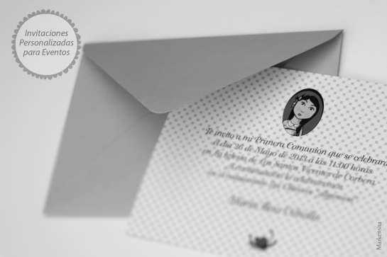 invitaciones personalizadas markensita